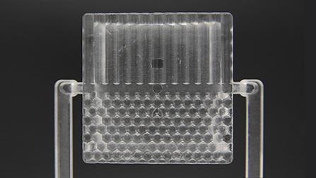 レンズ導光板模擬成型テスト品(ポリカーボネート)